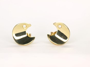 Earrings Moon gold and brilliant