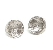 EARRINGS SILVER ARGENTBASIC SATIN OVALOS WAVY WITH NERVATURAS ARRM002R ARGENT BASIC