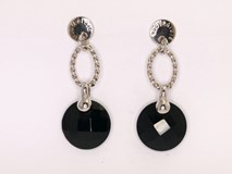Earrings Onyx faceted 0091 NUOVEGIOIE