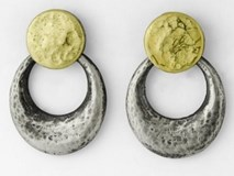 KTS 18 GOLD AND SILVER 9983PPYT EARRINGS Marina Garcia