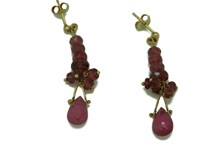 18K GOLD AND TOURMALINE EARRINGS