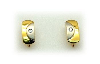 Earrings gold diamonds