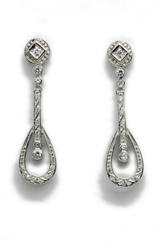 EARRINGS WHITE GOLD