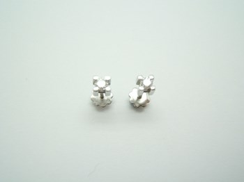 WHITE WITH BRIGHT GOLD EARRINGS B-79 B-224