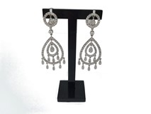 3760 STONES AND 18 K WHITE GOLD EARRINGS
