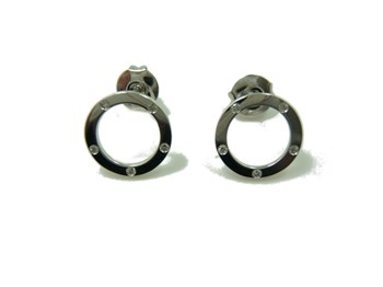 EARRINGS WHITE GOLD AND BRIGHT B-79 B-334