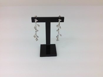 EARRINGS WHITE GOLD AND DIAMONDS 196222