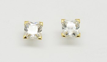 EARRINGS GOLD ZIRCONS