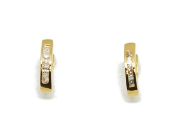 EARRINGS GOLD STONES PEND522 Espaijoia