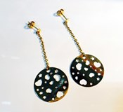 EARRINGS GOLD CIRCLE HEARTS