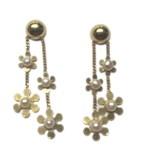 Pearl boucles d'oreilles or fleurs i