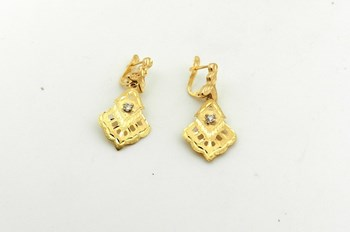 EARRINGS GOLD LONG - OWN - 3424