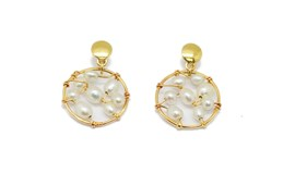 EARRINGS GOLD PEARL PEND511 Espaijoia