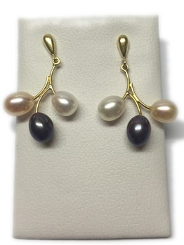EARRINGS GOLD PEARL