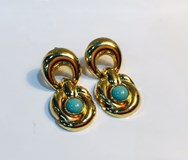 EARRINGS GOLD TURQUOISE