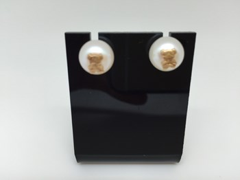 EARRINGS GOLD AND NATURAL PEARL 293088
