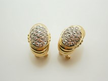 EARRING EARRING MOLTEN GOLD STONES - OWN - IP-1665