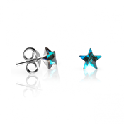 EARRINGS STAR BLUE AC-PE-21006 BLUE ABBAN COHEN