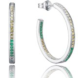 EARRINGS HOOP VICEROY SILVER WITH STONES COLOR 9031E000-32