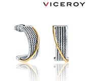EARRINGS TWO-TONE STEEL VICEROY 80010E19012