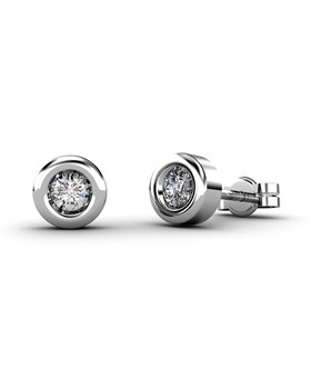 EARRING CHAT�N IN WHITE GOLD 18 KT WITH DIAMONDS OF 0.16 CARATS CRESBER