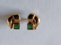EARRINGS OF EMERALDS AND 18K GOLD