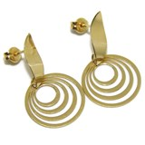 EARRINGS OF YELLOW GOLD OF 18KTES 4 RINGS. NEVER SAY NEVER