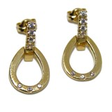 EARRINGS OF YELLOW GOLD OF 18KTES WITH 14 ZIRCONS NEVER SAY NEVER