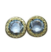 EARRINGS OF YELLOW GOLD OF 18KTES WITH BLUE TOPAZ NEVER SAY NEVER