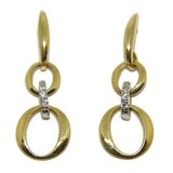 EARRINGS OF YELLOW GOLD OF 18KTES AND ZIRCONS NEVER SAY NEVER