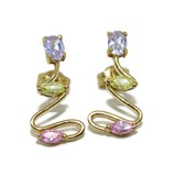 EARRINGS OF YELLOW GOLD OF 18KTES AND FINE STONE COLOR NEVER SAY NEVER