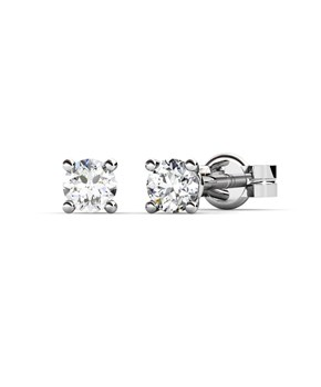 EARRINGS OF WHITE GOLD WITH DIAMONDS 0,12 CARATS CRESBER
