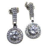 EARRINGS OF WHITE GOLD OF 18KTES WITH ZIRCONS NEVER SAY NEVER