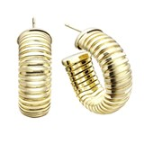 EARRING LAST RING TUBOGAS SILVER WITH BATHROOM GOLD 00506690 DURAN EXQUSE