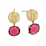 EARRING LAST RUBELLITE LEAVES DURAN EXQUSE
