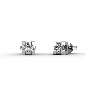 EARRINGS IN WHITE GOLD 18 KT WITH DIAMONDS OF 0.08 CARAT CRESBER