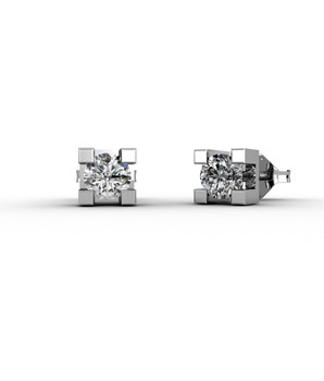 EARRINGS IN WHITE GOLD 18 KT WITH DIAMONDS OF 0.10 CARATS CRESBER