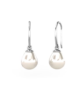 EARRINGS IN WHITE GOLD 18 KT WITH PEARLS IN THE FORM OF DROPS CRESBER