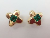 EARRINGS EMERALDS OROLEY