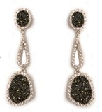 BOUCLES D'OREILLES PENDANTES EN ARGENT 0413/5 KAVAK DIAMANTS Kavak Diamonds