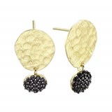 EARRING LUXENTER SILVER WITH BA�OR GOLD AND SPINEL 00506669