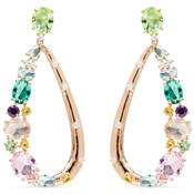 EARRING LUXENTER SILVER WITH COLORED STONES EK175R92000