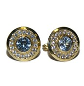 EARRINGS YELLOW GOLD 18KTES AND ZIRCONS NEVER SAY NEVER