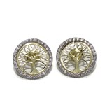 GOLD EARRINGS YELLOW AND WHITE GOLD 18KTES