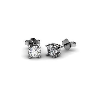 EARRINGS WHITE GOLD 18 KT WITH DIAMOND 0.70 CT CRESBER