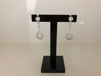 EARRINGS WHITE GOLD AND ZIRCONS BRIGHT 2123409