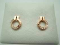 EARRINGS PINK GOLD AND DIAMONDS B-79