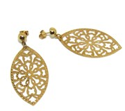 EARRINGS OF YELLOW GOLD OF 18KTES ITALIAN STYLE NIGHT. PRESSURE NEVER SAY NEVER