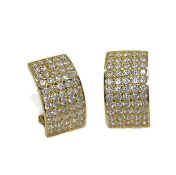 EARRINGS FOR WOMAN IN 18K YELLOW GOLD WITH ZIRCONS LARGE AND VERY COLORFUL NEVER SAY NEVER