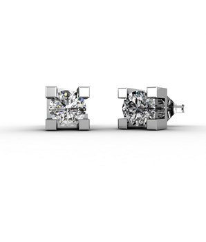 EARRINGS IN WHITE GOLD 18 KT WITH DIAMONDS OF 0.16 CARATS CRESBER